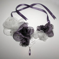 Jewelry, white, purple, Necklaces, Bride, Lace, Necklace, Jewel, Ribbons, Venice, Statement
