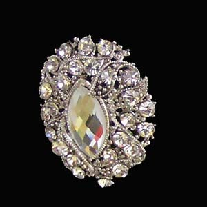 Jewelry, Brooches, Bridal, Brooch, Oval, Blustarfruit