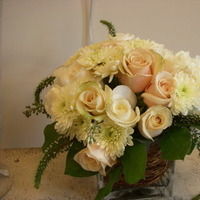 Flowers & Decor, white, orange, gold, Flowers