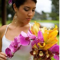 Flowers & Decor, white, orange, purple, Bride Bouquets, Flowers, Bouquet, Orchid