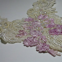 Jewelry, white, pink, Necklaces, Bride, Romantic, Lace, Pearls, Necklace, Fantasy, Venice, Statement