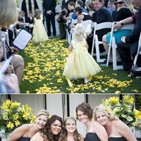 Flowers & Decor, Bridesmaids, Bridesmaids Dresses, Fashion, yellow, Bridesmaid Bouquets, Flowers, Flower Wedding Dresses