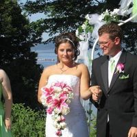 Ceremony, Flowers & Decor, pink, green, Ceremony Flowers, Flowers