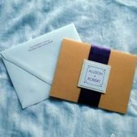 Stationery, purple, gold, Invitations