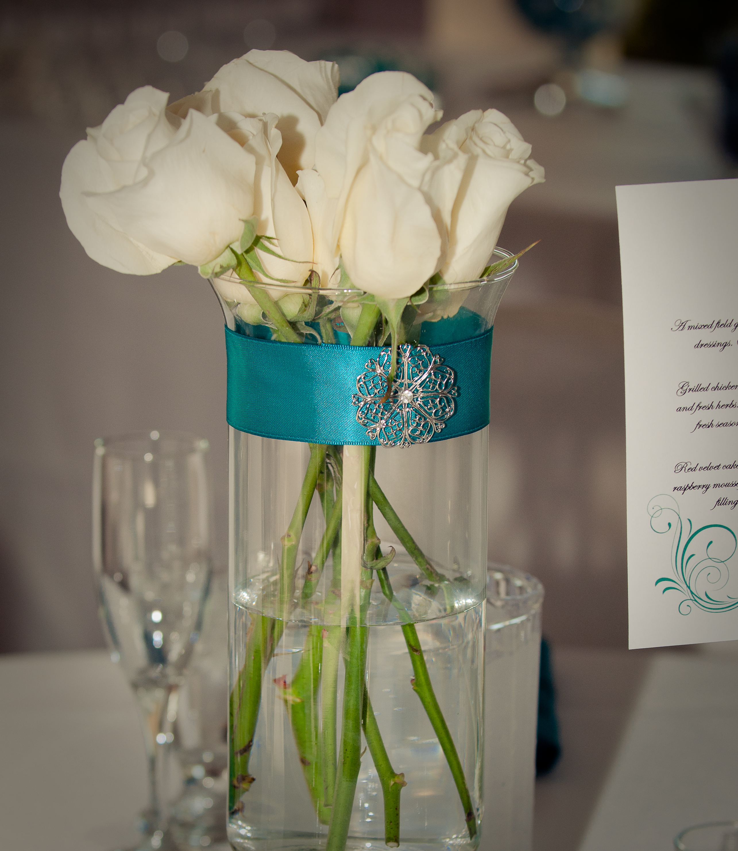 Ceremony, Reception, Flowers & Decor, white, pink, blue, green, silver