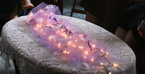 purple, Tulle, Center, Lights, Piece