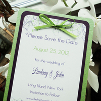 Stationery, white, purple, green, Invitations, The, Save, Date, Inspiration board, Magnet