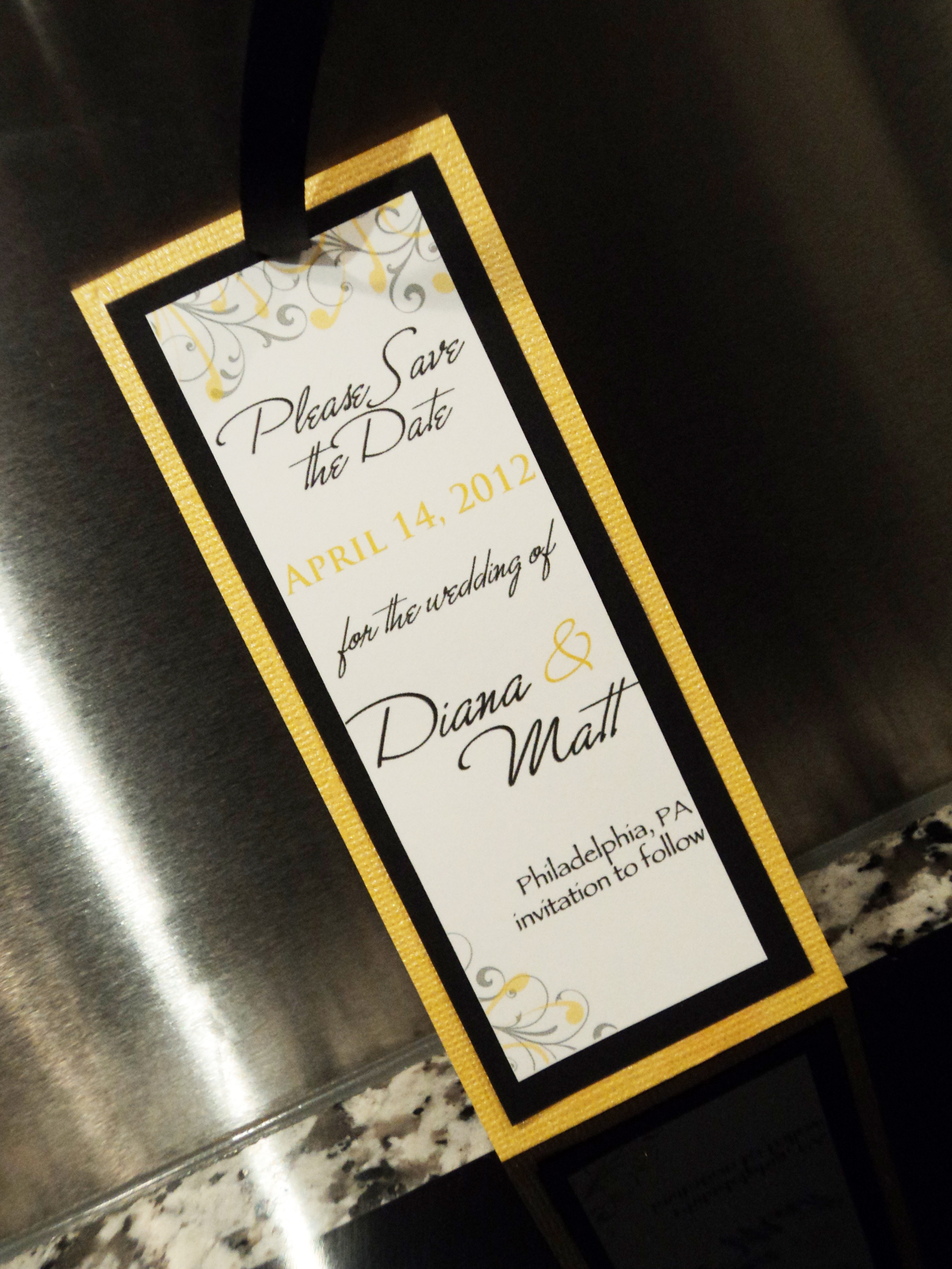 Stationery, white, yellow, black, Invitations, The, Save, Date, Inspiration board, Bookmark