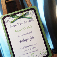 Stationery, white, purple, green, Invitations, The, Save, Date, Inspiration board