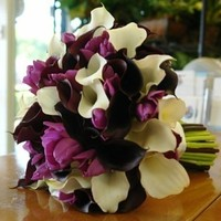 Flowers & Decor, white, purple, Bride Bouquets, Flowers, Bouquet, Tulips, Mini, Callas