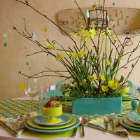 Reception, Flowers & Decor, blue, green, Inspiration board