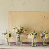 yellow, Grey, Bouquets, Emily john