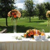 Ceremony, Flowers & Decor, orange, silver, Ceremony Flowers, Flowers