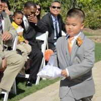 Ceremony, Flowers & Decor, orange, silver, Ring, Bearer