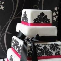 Cakes, pink, black, cake