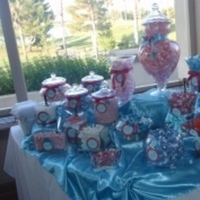 Reception, Flowers & Decor, Favors & Gifts, Cakes, white, pink, purple, blue, black, silver, cake, Favors, Inspiration board