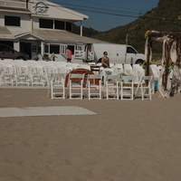 Ceremony, Flowers & Decor, white, Beach, Beach Wedding Flowers & Decor, Wedding
