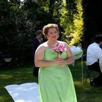 Ceremony, Flowers & Decor, Bridesmaids, Bridesmaids Dresses, Fashion, pink, green