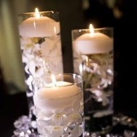 Reception, Flowers & Decor, white, black, Centerpieces, Centerpiece