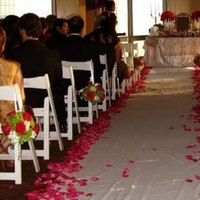 Ceremony, Flowers & Decor, white, pink, green, black, Aisleway