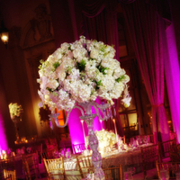 Reception, Flowers & Decor, white, pink, black, Centerpieces, Flowers, Centerpiece