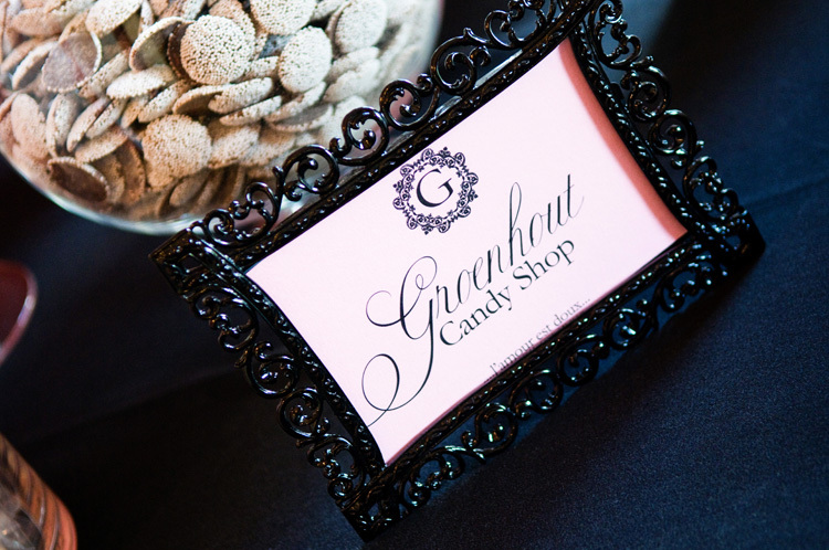 Reception, Flowers & Decor, Favors & Gifts, white, black, Favors, Candy, Bar, Signage
