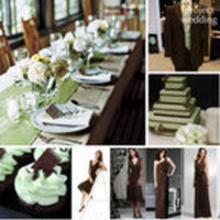 Ceremony, Reception, Flowers & Decor, Favors & Gifts, Bridesmaids, Bridesmaids Dresses, Stationery, Cakes, Fashion, green, brown, silver, cake, Favors, Invitations, Inspiration board