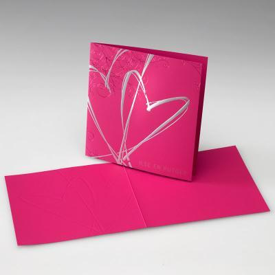 Stationery, pink, silver, Invitations