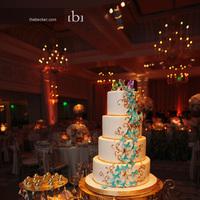 Reception, Flowers & Decor, Cakes, white, blue, gold, cake, Inspiration board