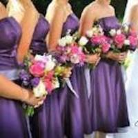 Flowers & Decor, Bridesmaids, Bridesmaids Dresses, Fashion, pink, purple, Bridesmaid Bouquets, Flowers, Inspiration board, Flower Wedding Dresses