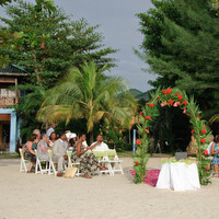 Ceremony, Flowers & Decor, Beach, Beach Wedding Flowers & Decor