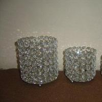 Reception, Flowers & Decor, Decor, Flowers, Wedding, Votives, Vases, Bling