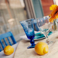 Reception, Flowers & Decor, yellow, blue, green, Flowers