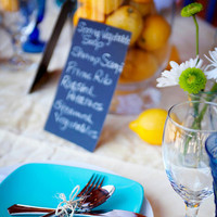 Reception, Flowers & Decor, white, yellow, blue, Flowers