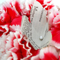 Ceremony, Reception, Flowers & Decor, Paper, white, pink, black, Ceremony Flowers, Centerpieces, Flowers, Centerpiece