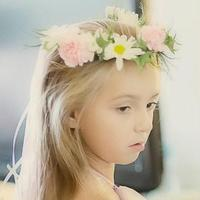 Beauty, Ceremony, Flowers & Decor, white, pink, green, Ceremony Flowers, Flowers, Flower, Girl, Hair