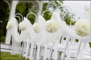 Ceremony, Flowers & Decor, white, Tulle, Hooks, Shepherds, Aisleway
