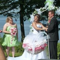 Ceremony, Flowers & Decor, pink, green