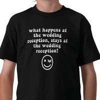 Reception, Flowers & Decor, black, Shirt, Funny, T