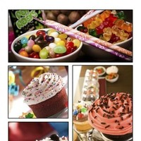 Cakes, pink, brown, cake, Cupcake, Bar