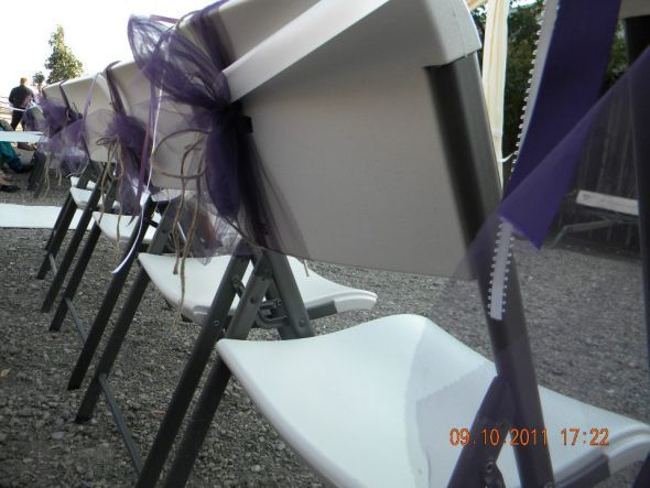 Reception, Flowers & Decor, purple, Chair, Sash
