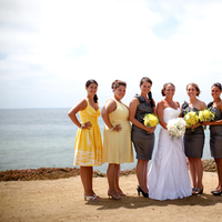 Flowers & Decor, Bridesmaids, Bridesmaids Dresses, Fashion, yellow, gray, silver, Bridesmaid Bouquets, Flowers, Flower Wedding Dresses
