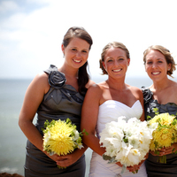 Flowers & Decor, Bridesmaids, Bridesmaids Dresses, Fashion, yellow, silver, Bridesmaid Bouquets, Flowers, Grey, The, Color, I, Is, Hard, How, Know, Flower Wedding Dresses