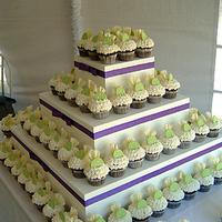 Cakes, yellow, green, cake