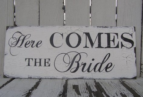 Ceremony, Flowers & Decor, Rustic, Rustic Wedding Flowers & Decor, Sign