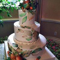 Cakes, yellow, orange, red, green, brown, cake