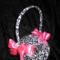 Ceremony, Flowers & Decor, white, pink, black, Flower, Girl, Basket