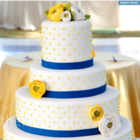 Cakes, yellow, blue, cake