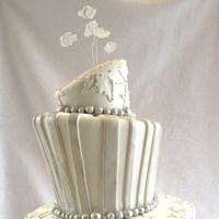 Cakes, white, silver, cake