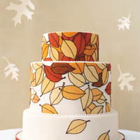 Cakes, white, yellow, orange, red, brown, cake